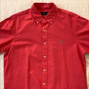 Coral Pink Classic Fit Button Down - Ralph Lauren